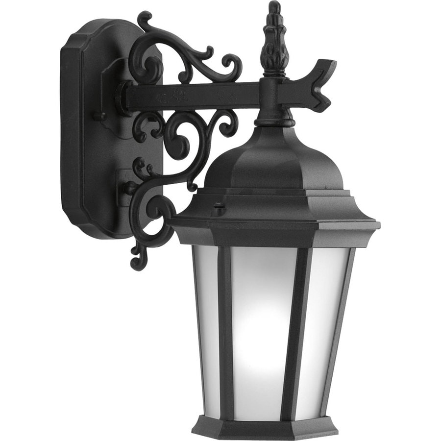 Progress Lighting Welbourne 9.8-in H Black Outdoor Wall Light
