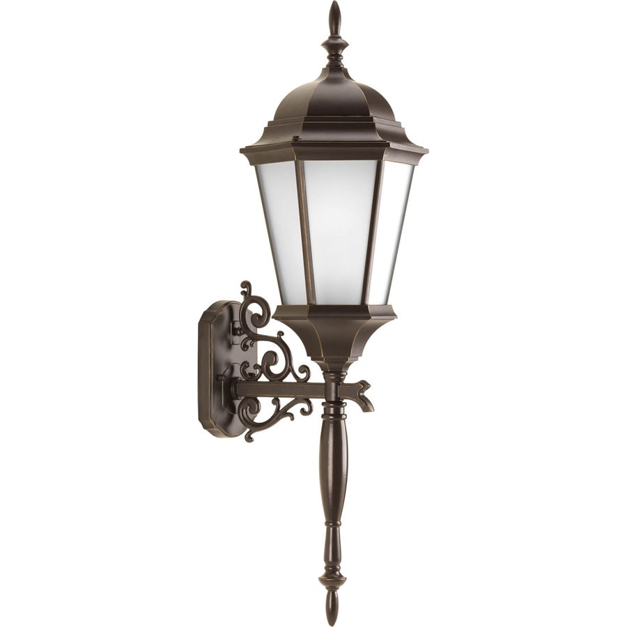 Progress Lighting Welbourne 18.6-in H Antique Bronze Outdoor Wall Light