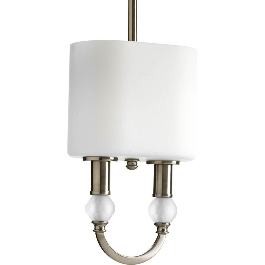 Progress Lighting Splendid 7.5-in Brushed Nickel Mini Bell Pendant