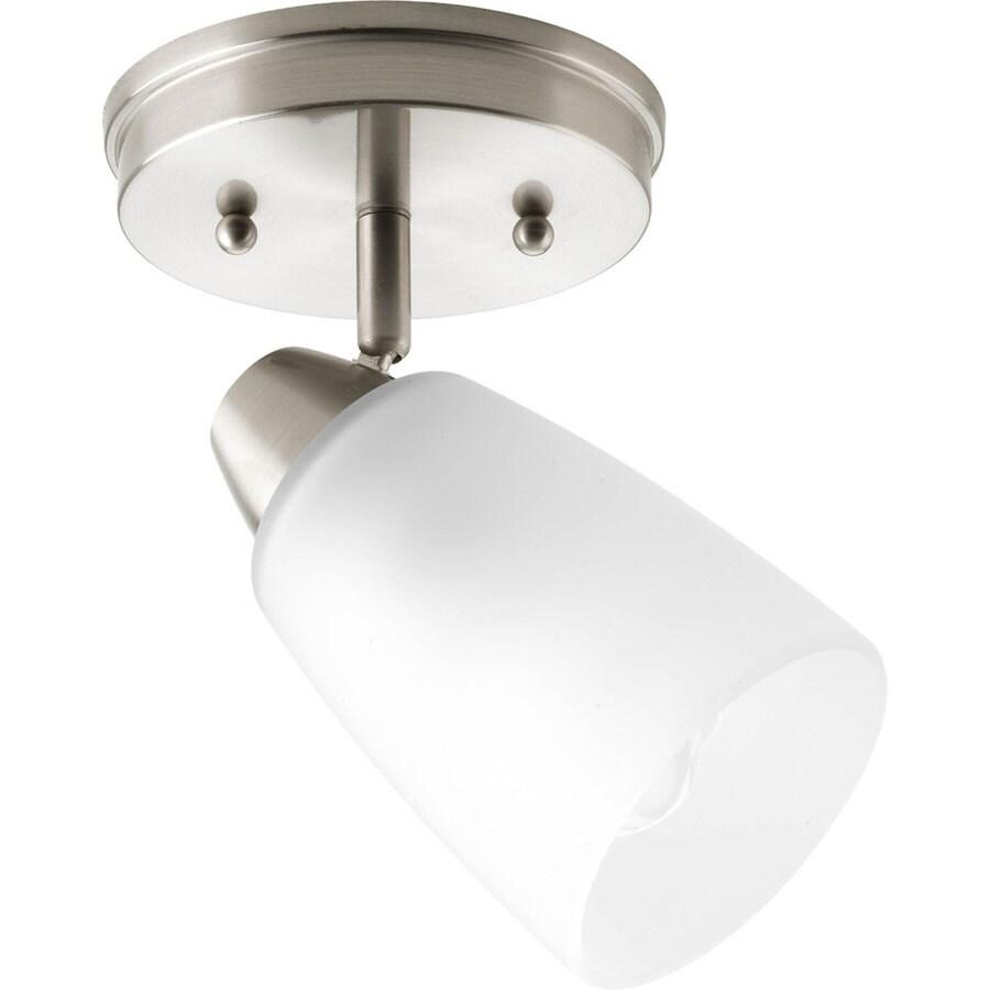 Progress Lighting Wisten 1-Light 5.31-in Brushed Nickel Fixed Track Light Kit