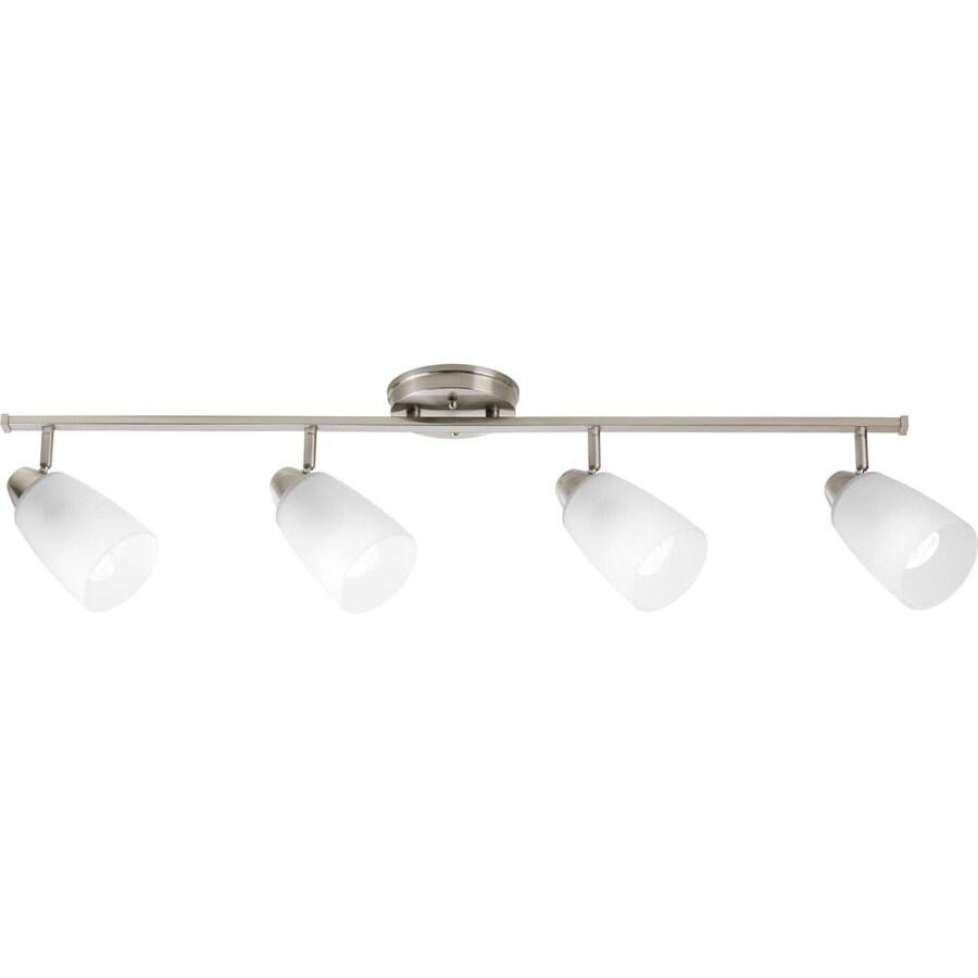 Progress Lighting Wisten 4-Light 40-in Brushed Nickel Fixed Track Light Kit