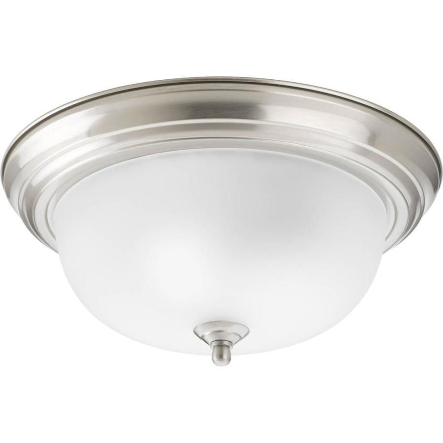 Progress Lighting Melon 13.25-in W Brushed Nickel Ceiling Flush Mount Light