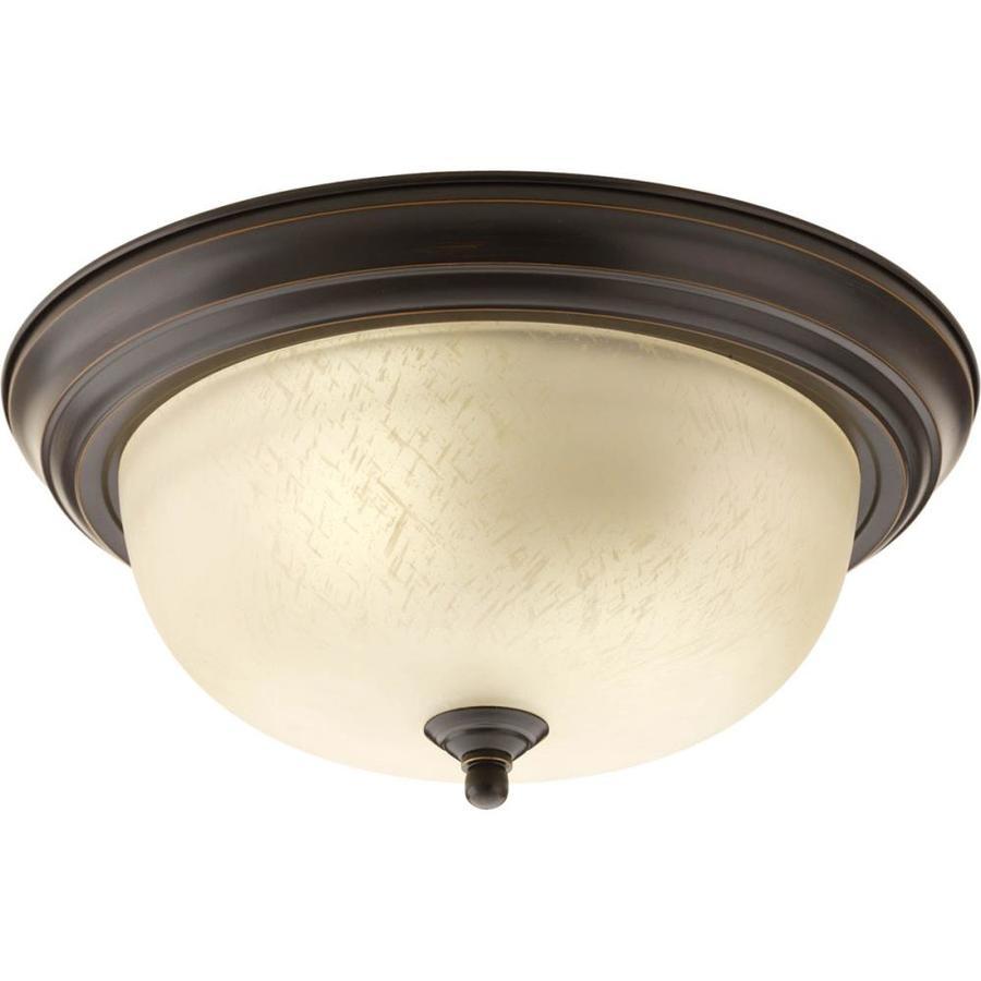 Progress Lighting Melon 13.25-in W Antique Bronze Ceiling Flush Mount Light