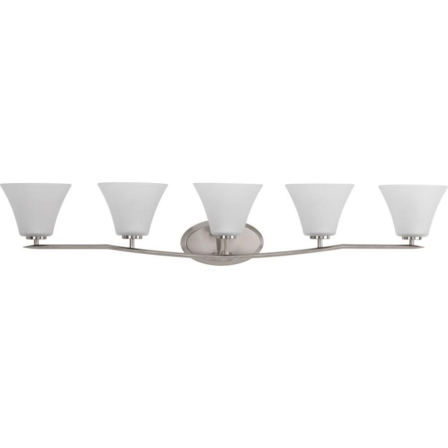 Shop Progress Lighting Bravo 5 Light Brushed Nickel Bell Vanity Light At Lowe