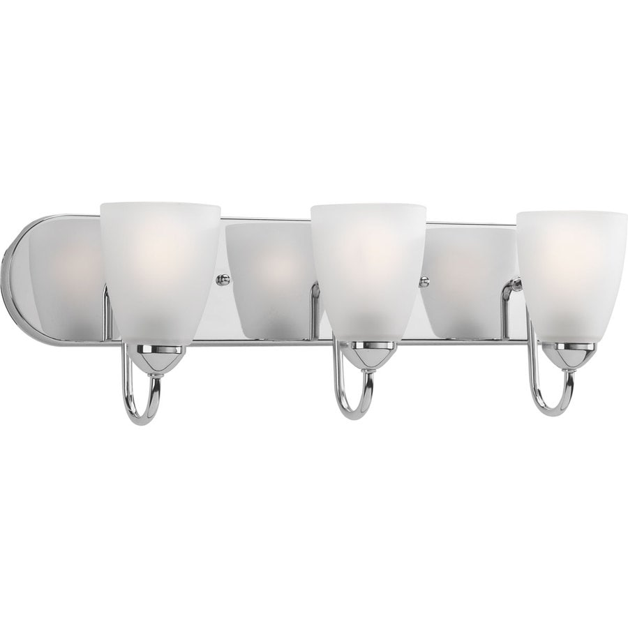 Progress Lighting Gather 3-Light Polished Chrome Cone Vanity Light