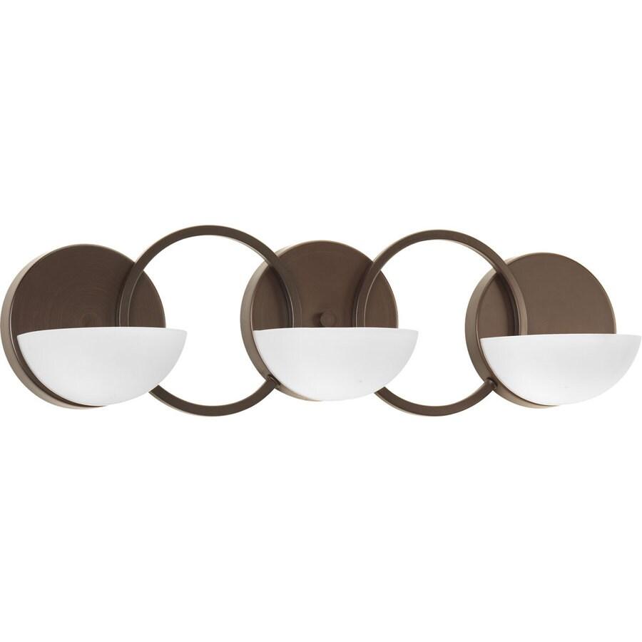 Progress Lighting Engage 3-Light Antique Bronze Geometric Vanity Light