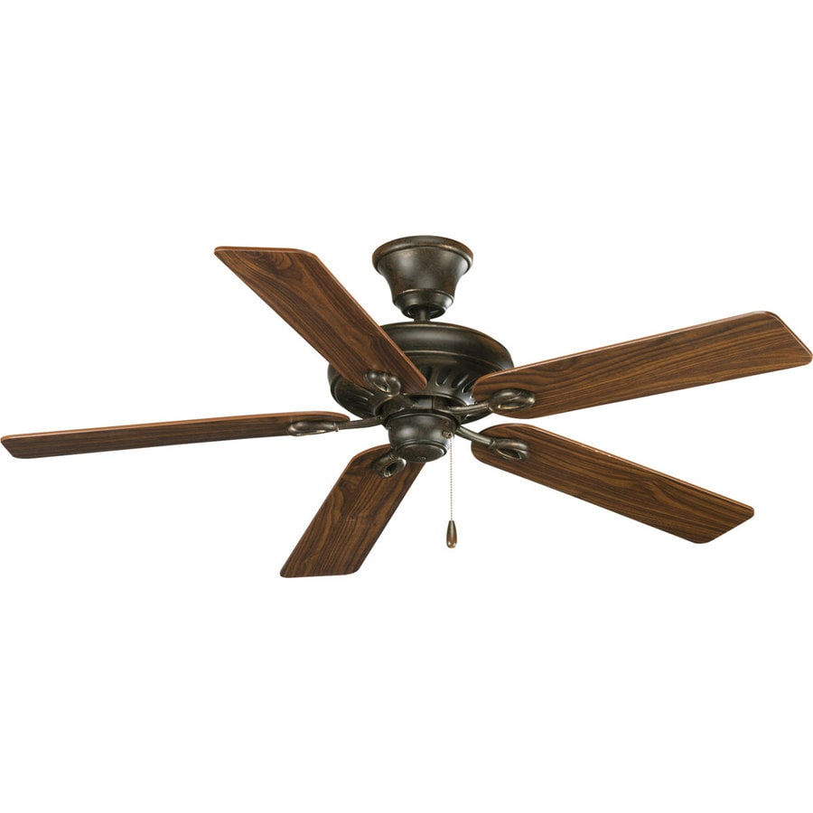 Progress Lighting AirPro Signature 52-in Forged Bronze Downrod or Close Mount Indoor Ceiling Fan ENERGY STAR