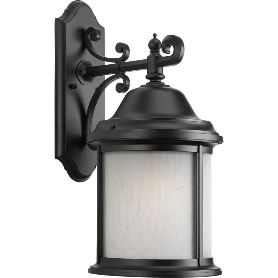 Progress Lighting Ashmore 20.5-in H Textured Black Outdoor Wall Light ENERGY STAR