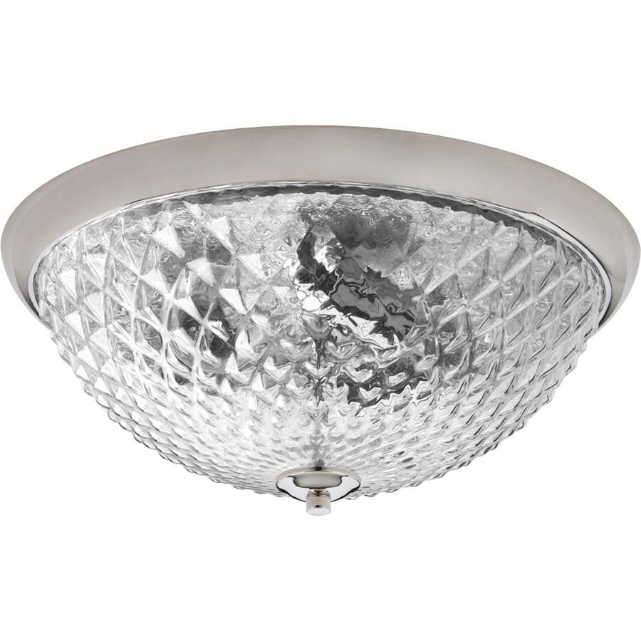 Progress Lighting Entice 14.5-in W Polished Nickel Ceiling Flush Mount Light