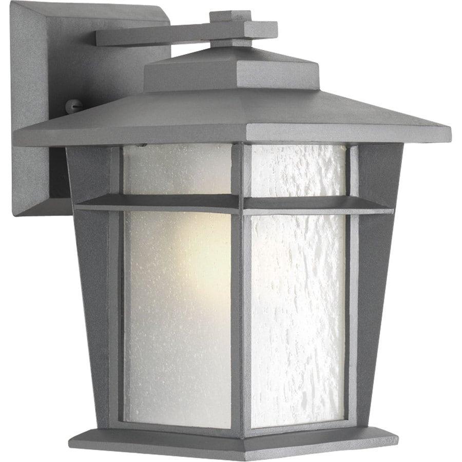 Progress Lighting Loyal 10.25-in H Textured Graphite Outdoor Wall Light ENERGY STAR