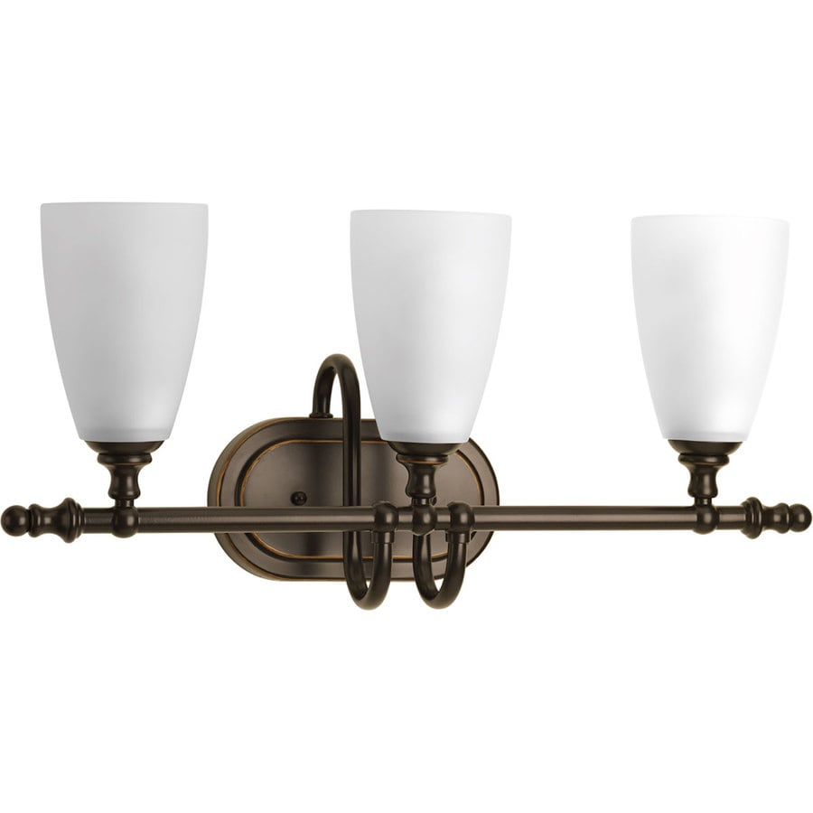 Progress Lighting Revive 3-Light Antique Bronze Cone Vanity Light