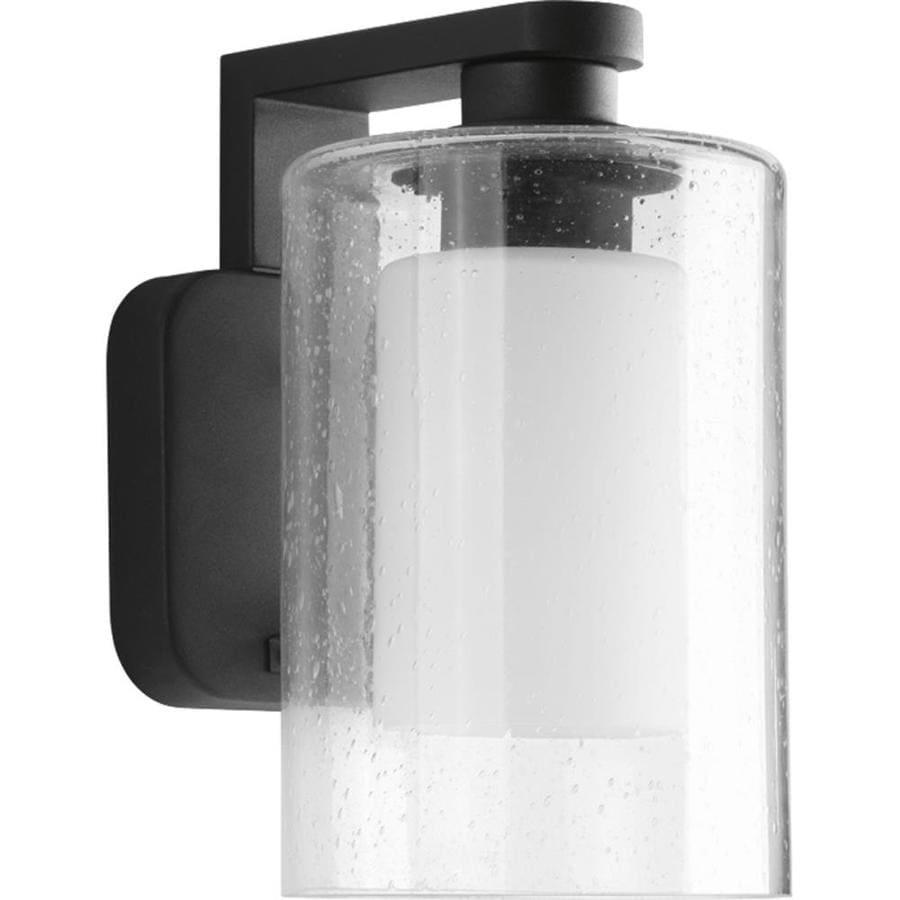Progress Lighting Compel 9.875-in H Black Outdoor Wall Light