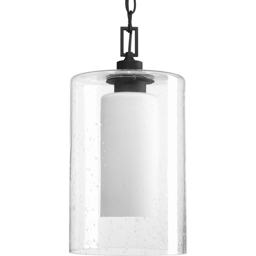 Progress Lighting Compel 15.375-in Black Outdoor Pendant Light