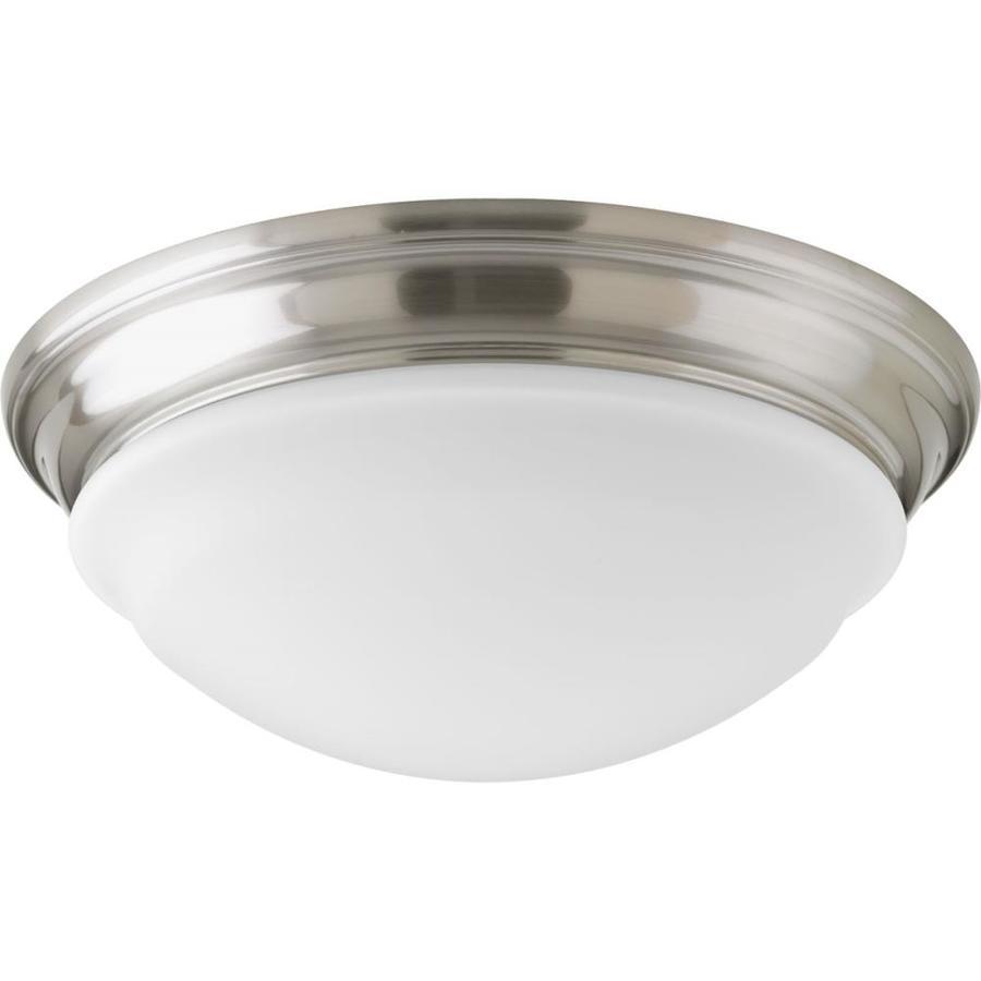 Progress Lighting Led Flush Mount 12.5-in W Brushed Nickel LED Ceiling Flush Mount Light