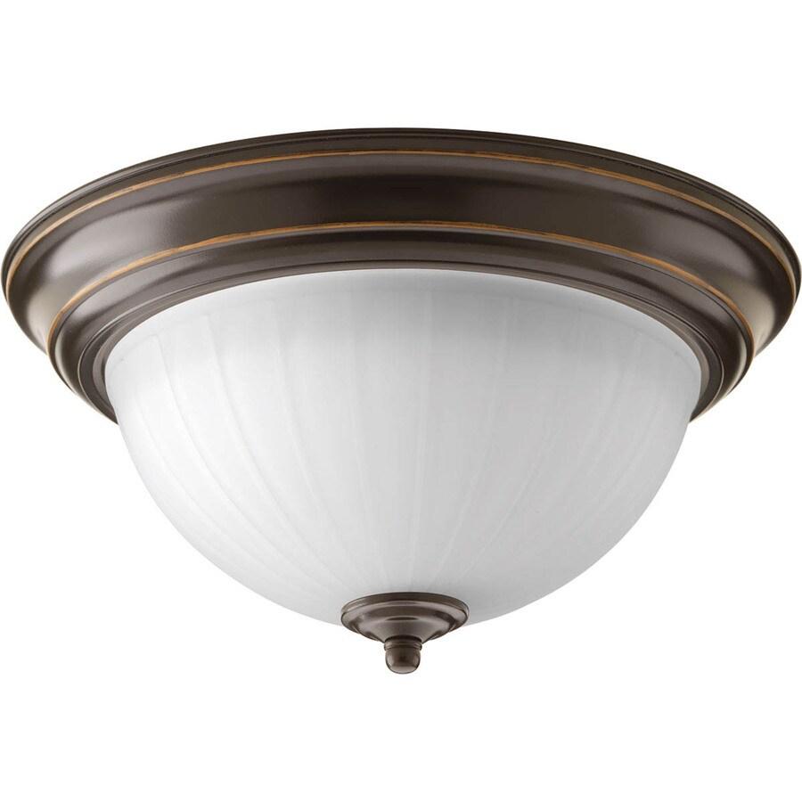 Progress Lighting Led Flush Mount 11.375-in W Antique Bronze LED Ceiling Flush Mount Light