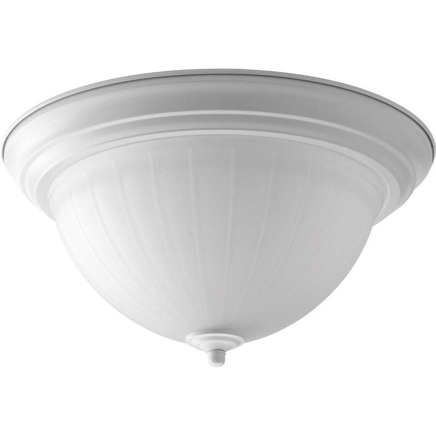 Progress Lighting Led Flush Mount 13.25-in W White LED Ceiling Flush Mount Light