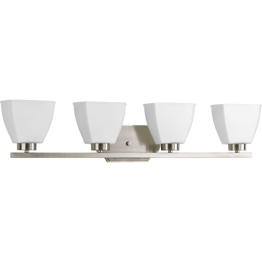 Progress Lighting Bounty 4-Light Brushed Nickel Square Vanity Light