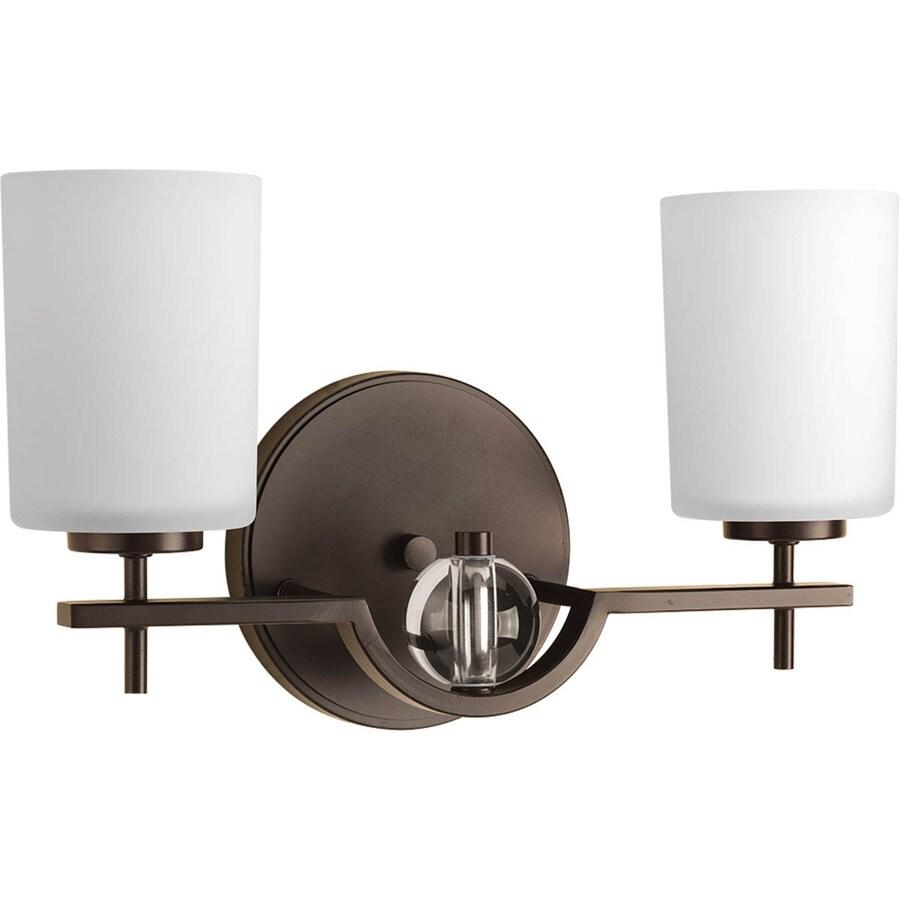 Progress Lighting Compass 2-Light Antique Bronze Cylinder Vanity Light