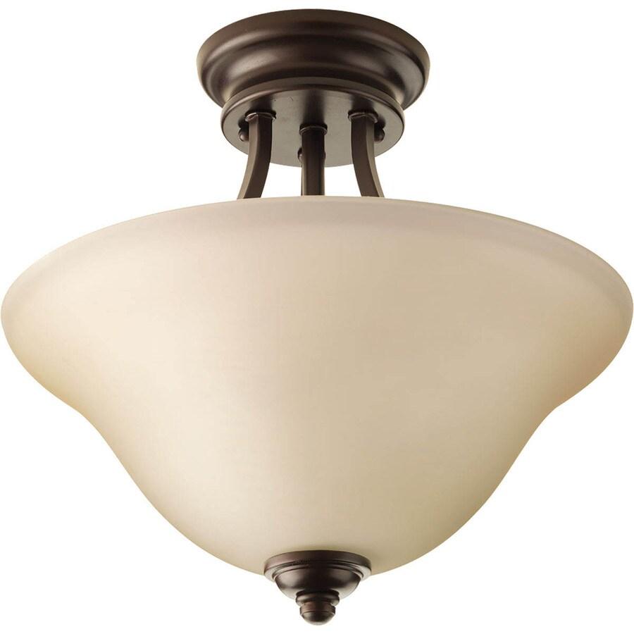 Progress Lighting Spirit 13.125-in W Antique Bronze Ceiling Flush Mount Light