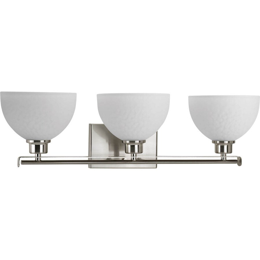 Shop Progress Lighting 3 Light Legend Brushed Nickel Bathroom Vanity Light At