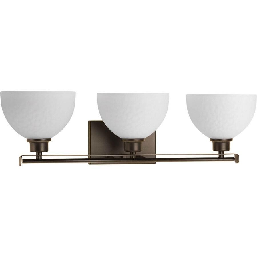 Progress Lighting Legend 3-Light Antique Bronze Bowl Vanity Light