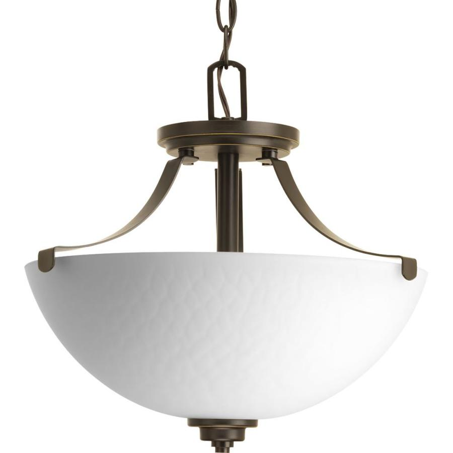 Progress Lighting Legend 14.5-in W Antique Bronze Textured Semi-Flush Mount Light