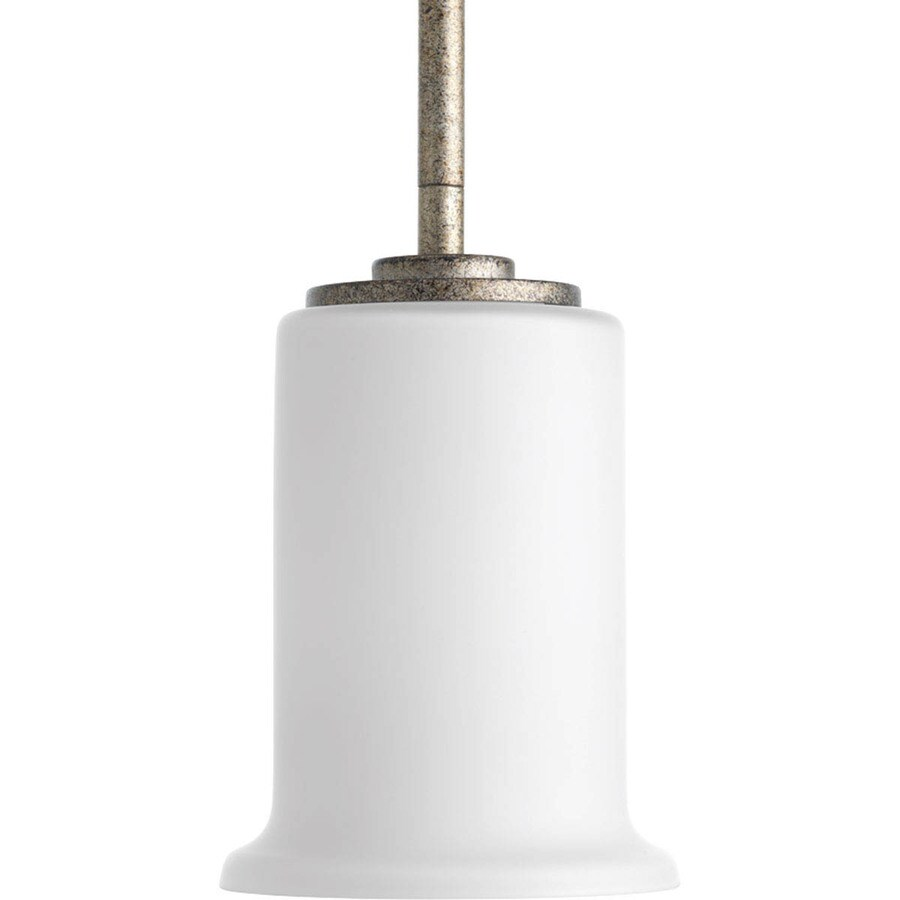 Progress Lighting Stroll 4.75-in Pebbles Mini Tinted Glass Bell Pendant