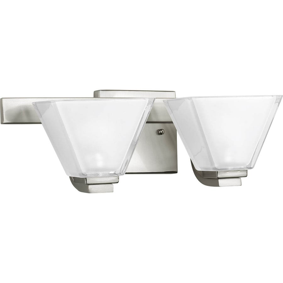 Progress Lighting Sync 2-Light Brushed Nickel Square Vanity Light