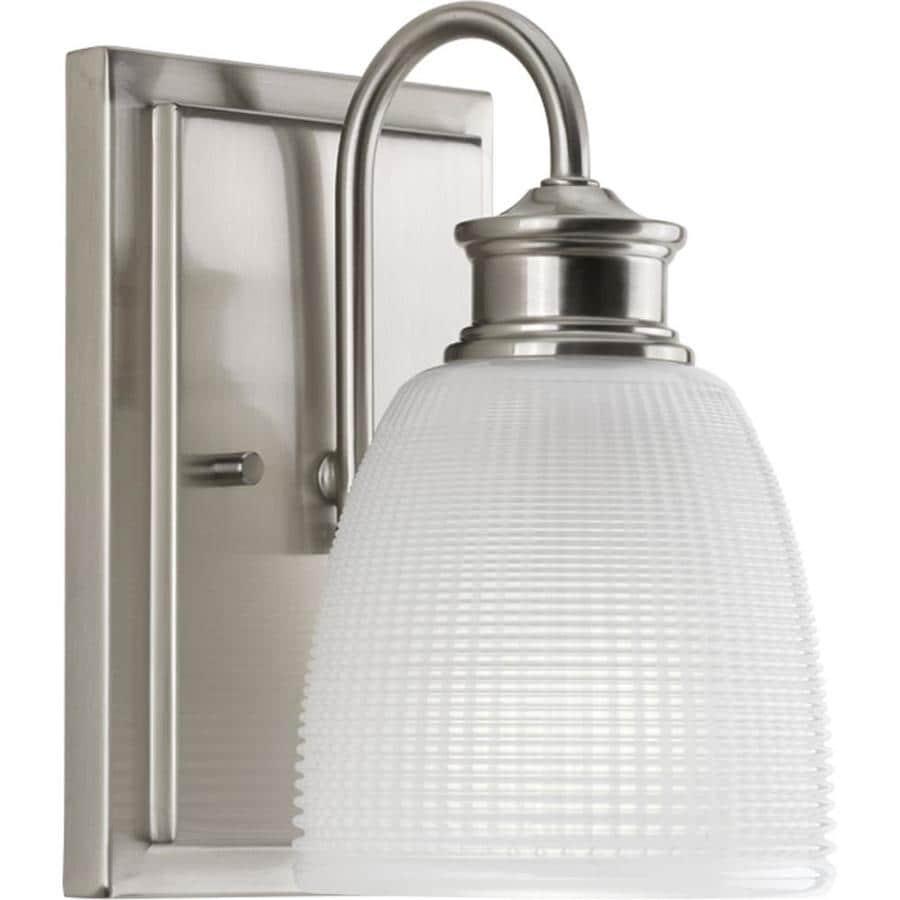 Progress Lighting Lucky 1-Light Brushed Nickel Dome Vanity Light