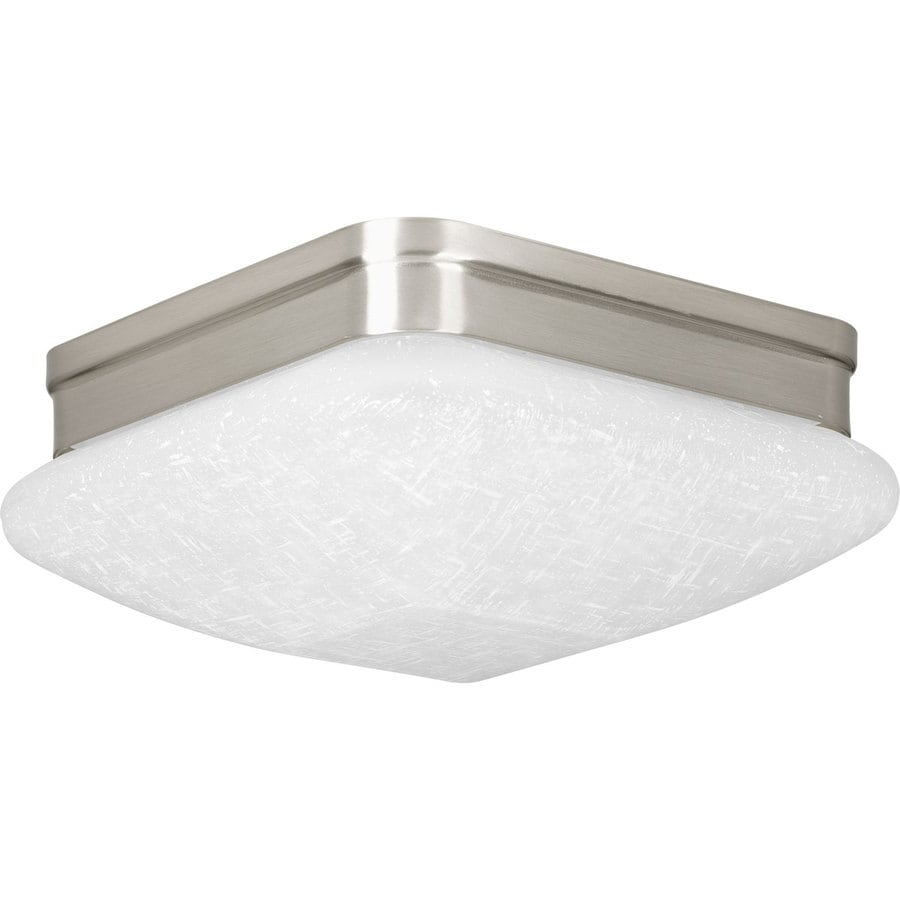 Progress Lighting 9-in W Brushed Nickel LED Ceiling Flush Mount Light