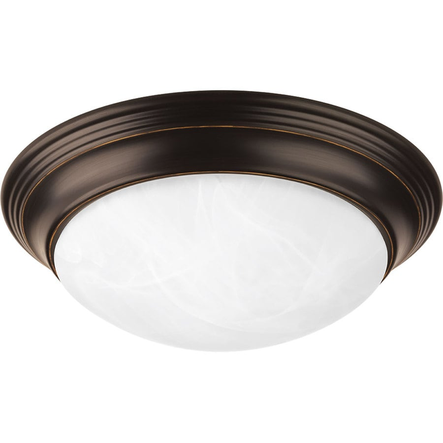 Progress Lighting Melon Frosted Glass Flush Mount Fluorescent Light ENERGY STAR (Common: 1-ft; Actual: 11.5-in)