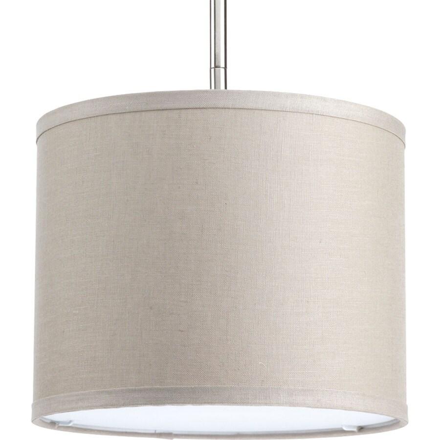 Progress Lighting Markor 8-in H 10-in W Harvest Linen Fabric Cylinder Pendant Light Shade
