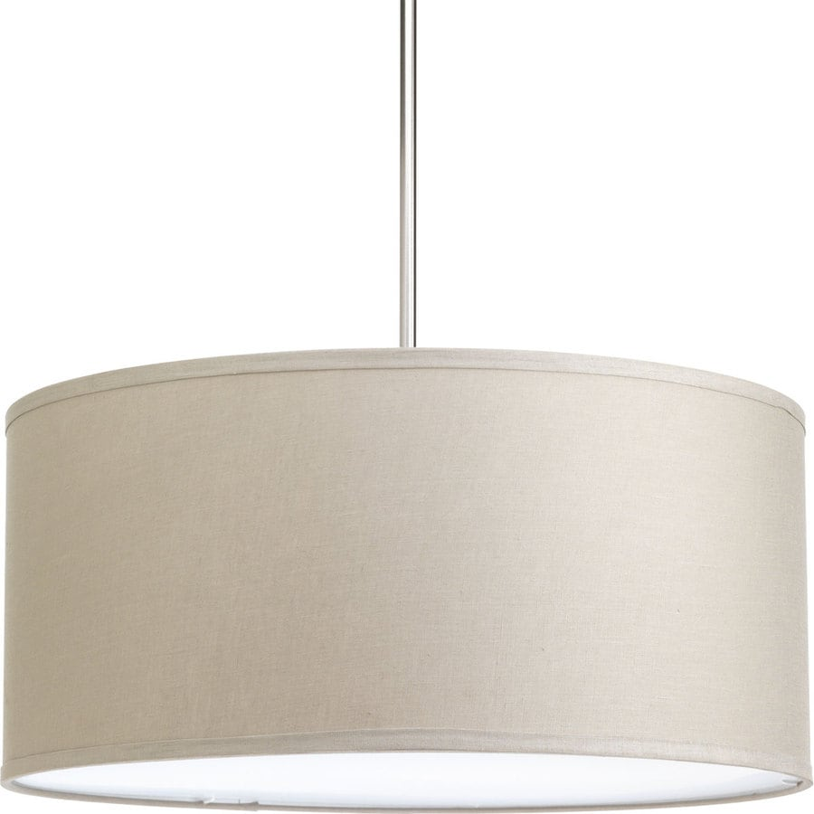 Progress Lighting Markor 10-in H 22-in W Harvest Linen Fabric Cylinder Pendant Light Shade