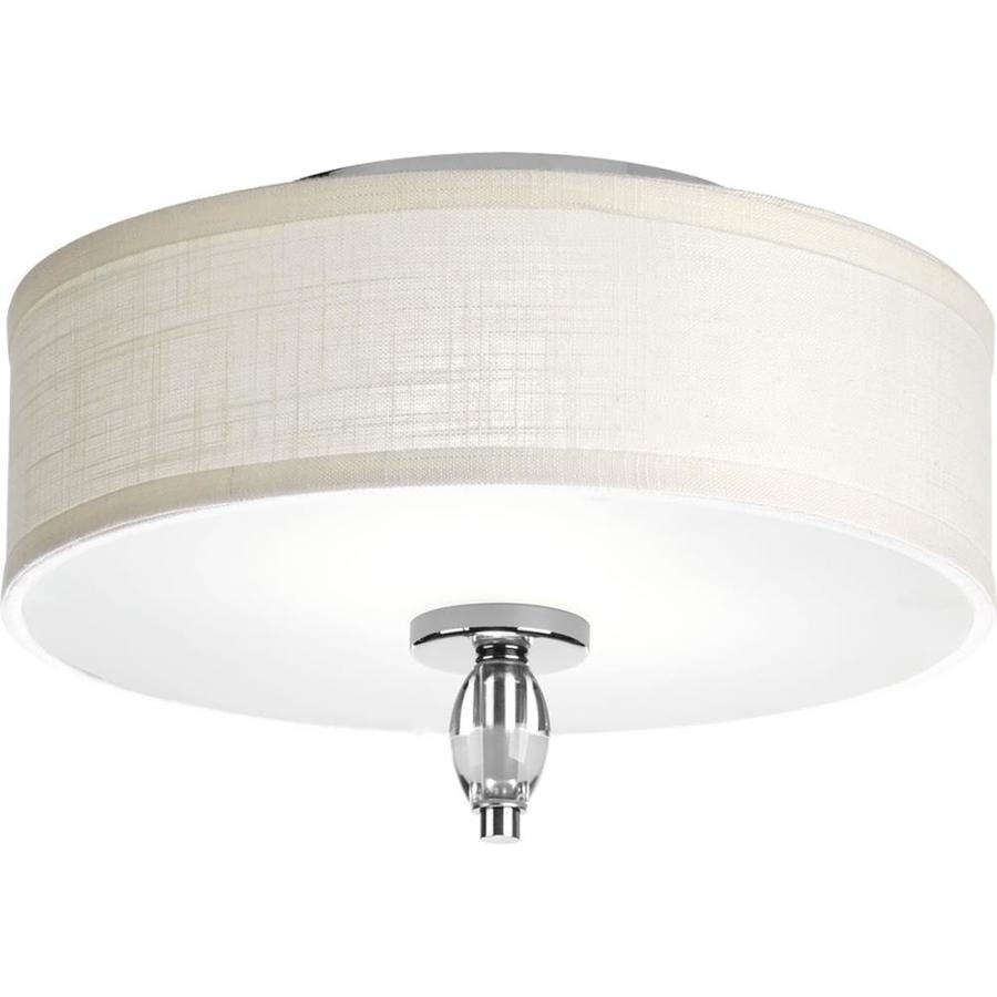 Progress Lighting Status 13-in W Polished Chrome Ceiling Flush Mount Light