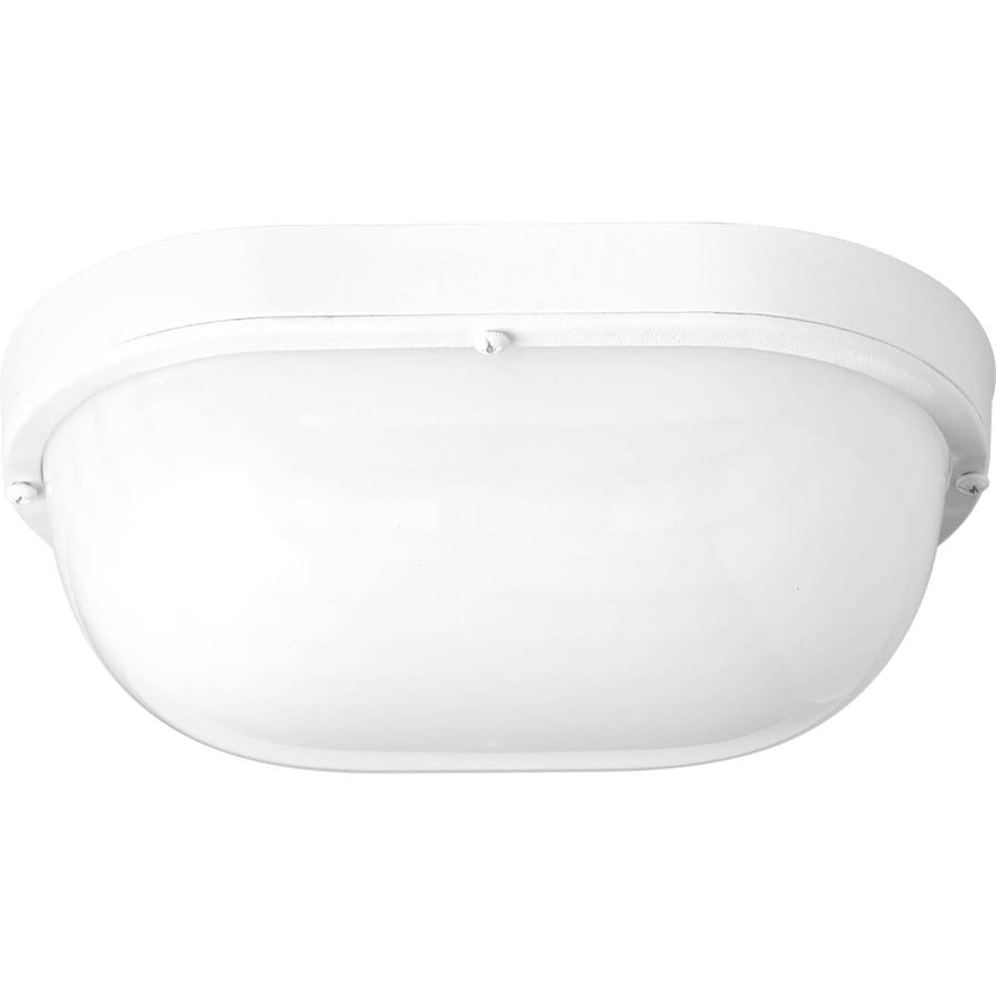 Progress Lighting Bulkheads Led 10.5-in H Led White Outdoor Wall Light ENERGY STAR