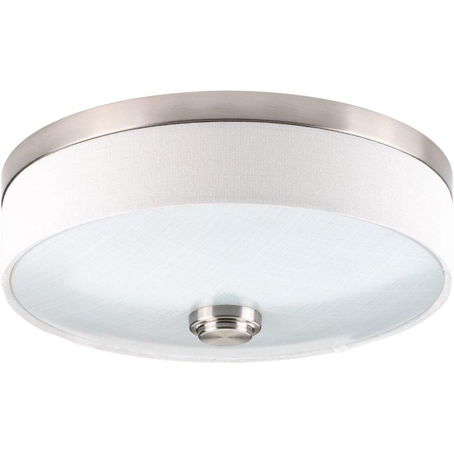 Shop Progress Lighting Weaver Led 10 In W Brushed Nickel Led Ceiling Flush Mount Light At