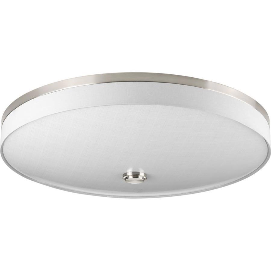 Progress Lighting Weaver LED 22-in W Brushed Nickel LED Ceiling Flush Mount Light