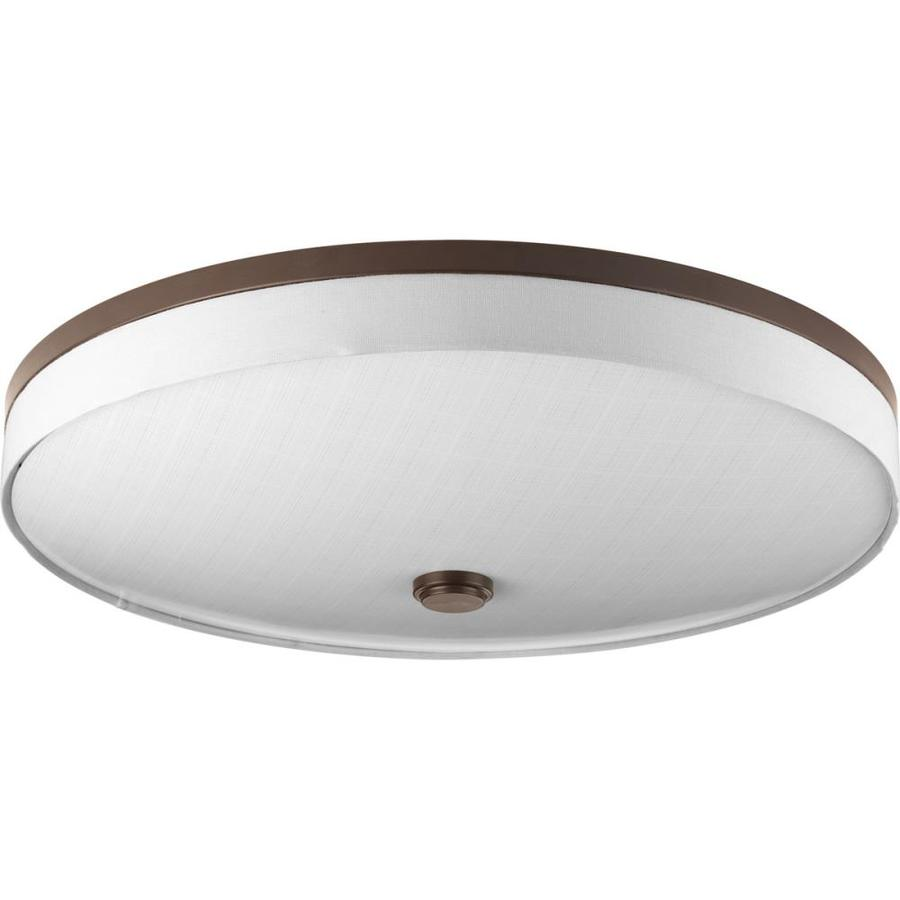 Progress Lighting Weaver LED 22-in W Antique Bronze LED Ceiling Flush Mount Light