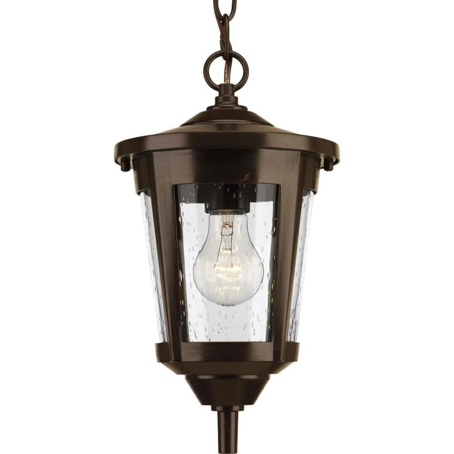 Shop progress lighting east haven antique bronze Outdoor pendant lighting