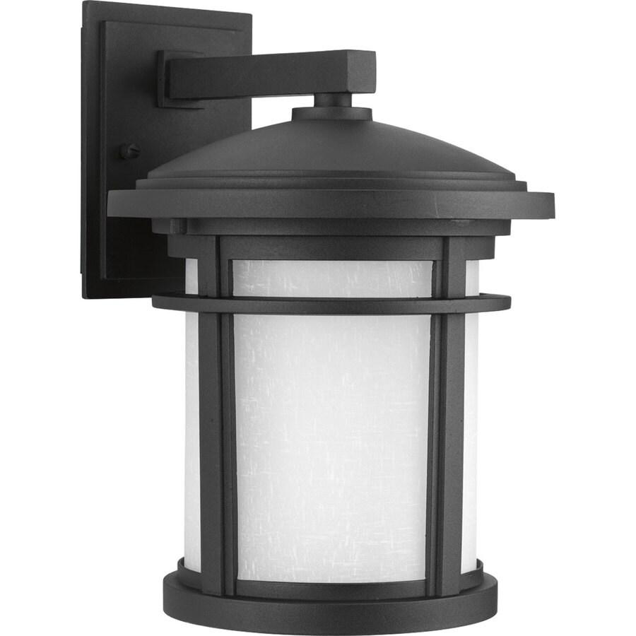 Progress Lighting Wish 12.5-in H Black Dark Sky Outdoor Wall Light