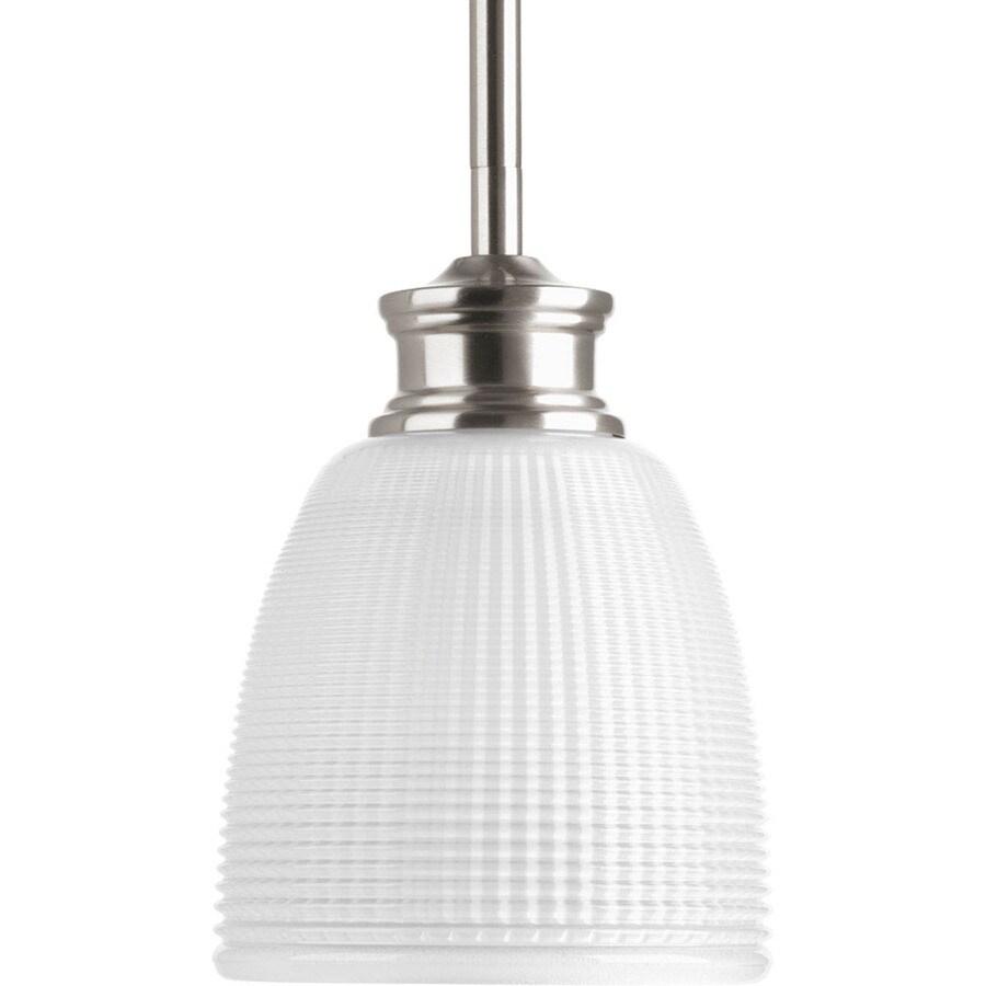Progress Lighting Lucky 5-in Brushed Nickel Mini Bell Pendant
