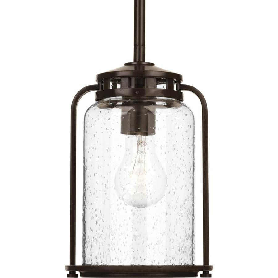 Progress Lighting Botta 9.75-in Antique Bronze Outdoor Pendant Light