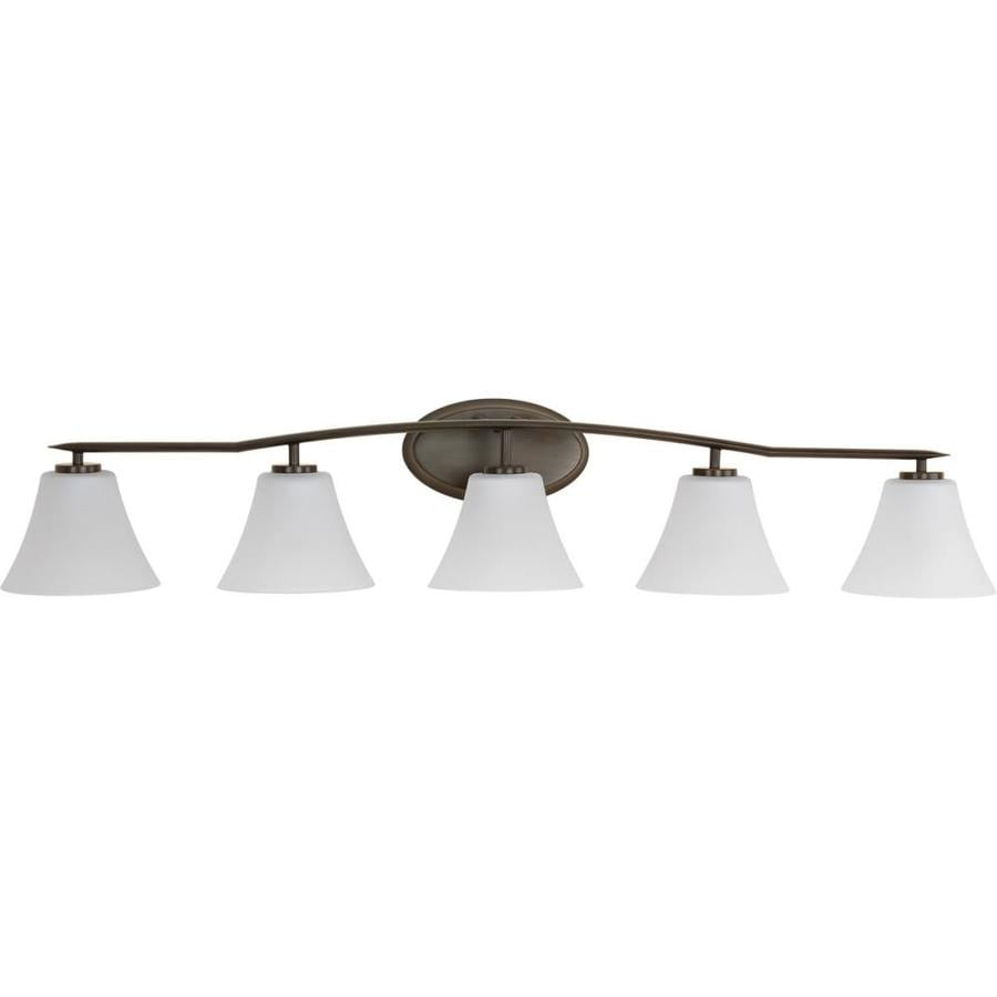 Progress Lighting Bravo 5-Light Antique Bronze Bell Vanity Light