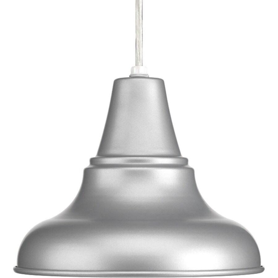 Progress Lighting District Led 6.25-in H Led Metallic Gray Outdoor Wall Light ENERGY STAR
