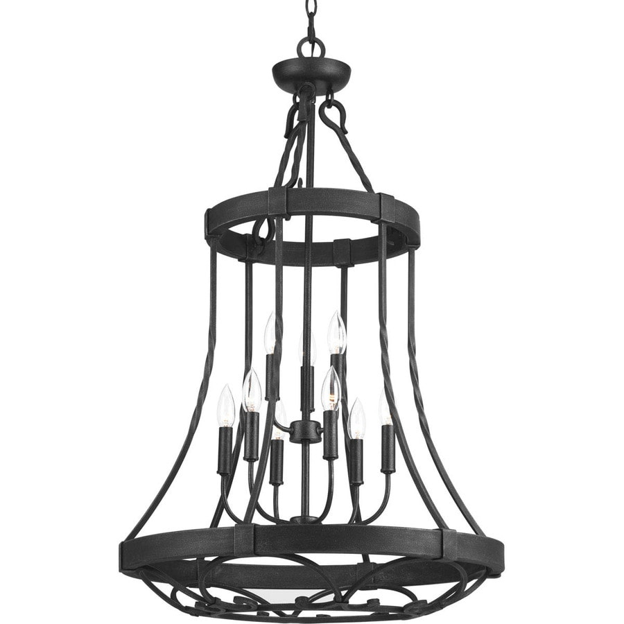 Progress Lighting Enclave 24-in 9-Light Gilded Iron Wrought Iron Tiered Chandelier