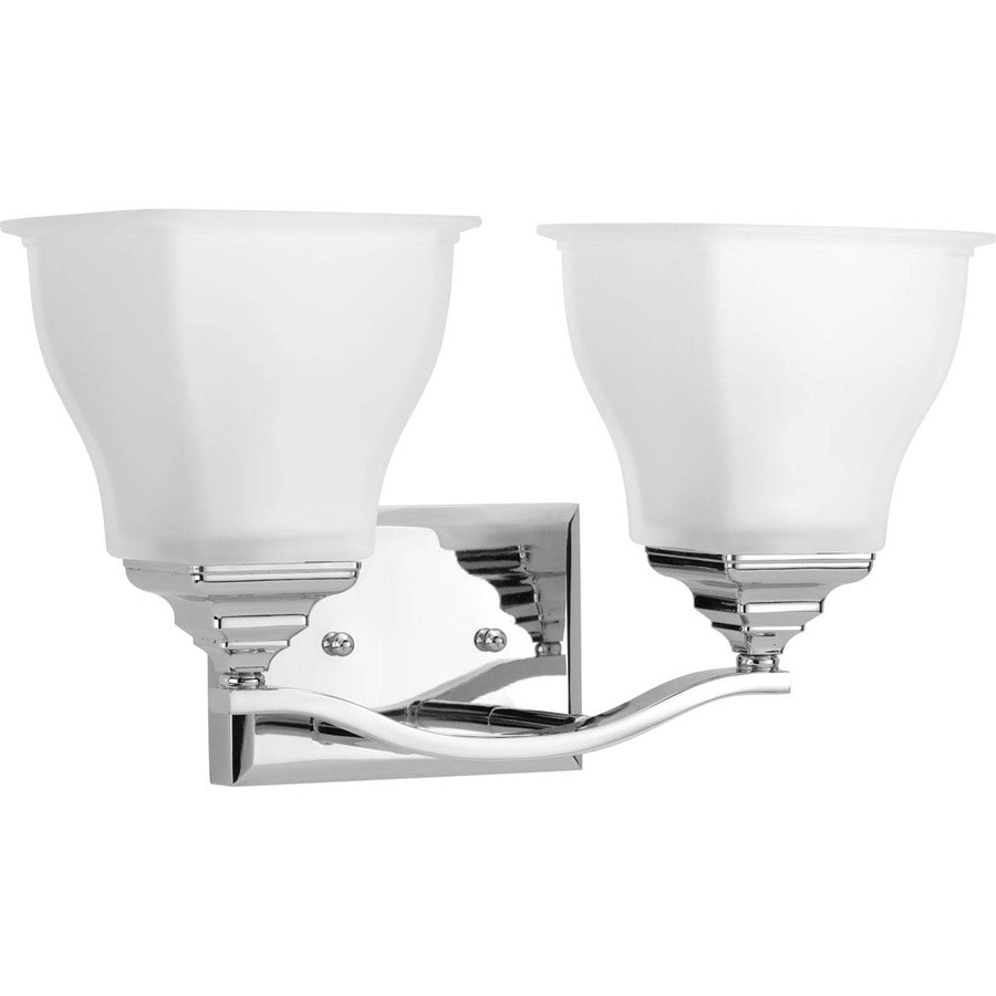 Progress Lighting Callison 2-Light Polished Chrome Square Vanity Light