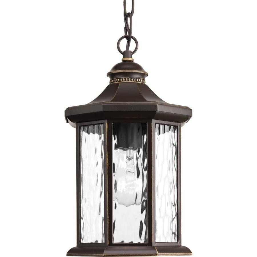 Progress Lighting Edition 16.25-in Antique Bronze Outdoor Pendant Light