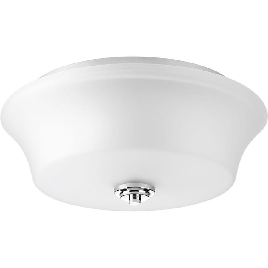 Progress Lighting Cascadia 14-in W Polished Chrome Ceiling Flush Mount Light