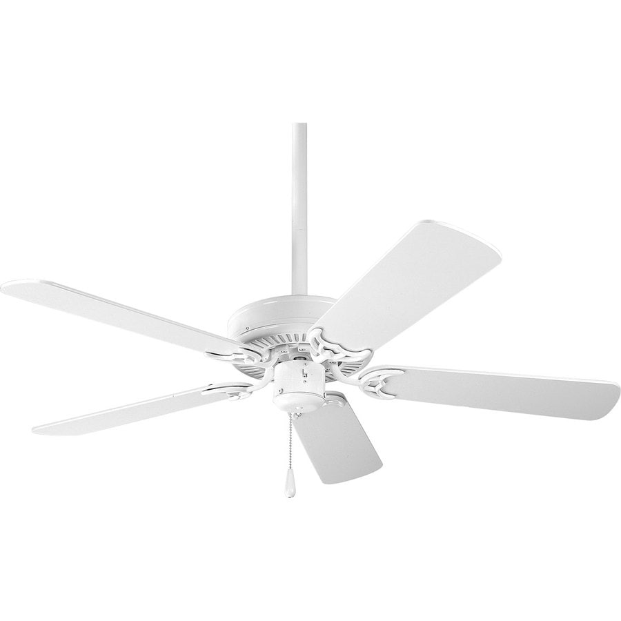 Progress Lighting AirPro Builder 42-in White Downrod or Close Mount Indoor Ceiling Fan