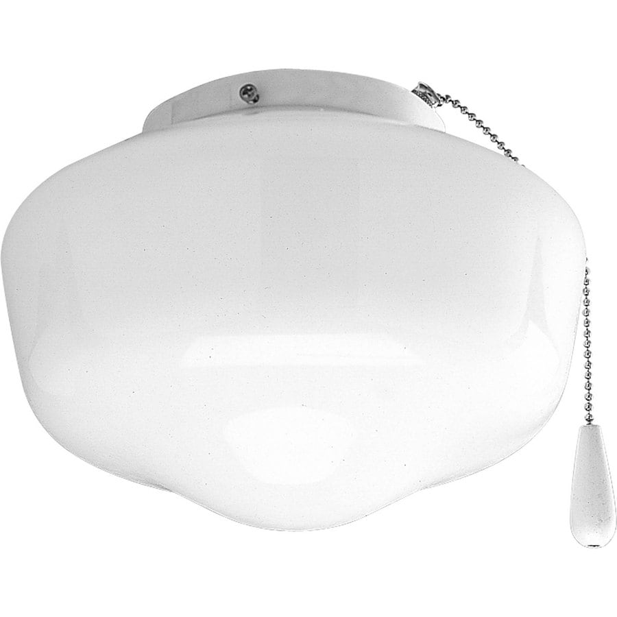 Progress Lighting Airpro 1-Light White Incandescent Ceiling Fan Light Kit with Frosted Glass